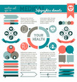 your health infographic vector image vector image