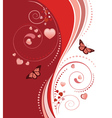 Red swirl ornament vector image