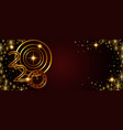 abstract golden banner 2020 happy new year vector image vector image