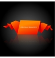 Abstract orange origami speech bubble vector image