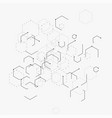 abstract with hexagons lines vector image