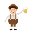 bavarian man with beer icon vector image vector image