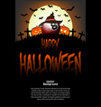 billiard ball with witch hat and happy hallowen vector image vector image