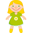 blond doll vector image vector image