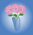 bouquet of three beautiful roses vector image vector image
