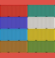 cargo shipping containers for freight transport vector image