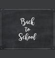 chalkboard texture background back to school vector image vector image