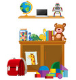 children toy on white background vector image vector image