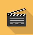 cinema clapperboard icon flat style design vector image vector image