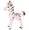 Cute zebra foal vector | Price: 3 Credits (USD $3)