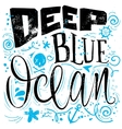 Deep blue ocean for a t-shirt vector image vector image