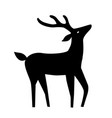 deer with horns outline vector image vector image