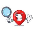 detective navigation pin location map character vector image