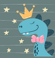 dino little princess - cute characters vector image