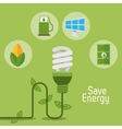 eco light bulb save energy items vector image vector image