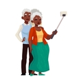 Elder grey-haired african american couple taking vector image vector image