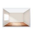 example of empty room with window on side vector image vector image