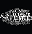find men footwear at your comfort and style text vector image vector image