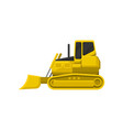 flat icon of yellow bulldozer powerful vector image vector image
