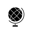 globe black icon sign on isolated vector image