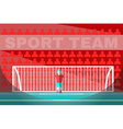 Goalkeeper playing soccer vector image vector image
