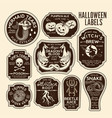 halloween bottle labels potion labels vector image vector image