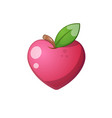 heart fruit icon cartoon vector image vector image