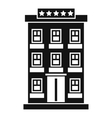 Hotel building icon simple style