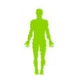 human anatomy distorted vector image vector image