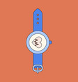 icon in flat design sports watches vector image