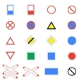 Icons set of road signs and signs on a white vector image vector image