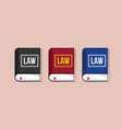 law books collection with flat style and various vector image vector image