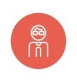 Man thin line icon vector image