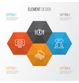 management icons set collection of email vector image vector image