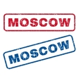 Moscow Rubber Stamps vector image vector image