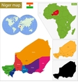 Niger map vector image