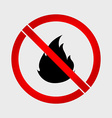 No Fire prohibition sign vector image