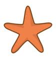 orange starfish cartoon vector image vector image