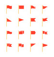 pennants and flags set vector image vector image