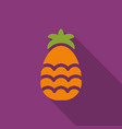 pineapple flat icon with shadow vector image vector image