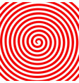red white round abstract vortex hypnotic spiral vector image