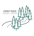 road in forest logo template vector image
