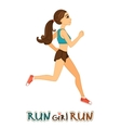 Running girl isolated vector image vector image