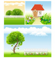 set of garden images - templates for design vector image vector image