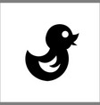 simple icon a children toy waterfowl vector image