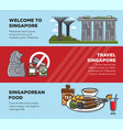 singapore travel tourist landmark symbols and vector image vector image