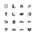 sleep - flat icons vector image vector image
