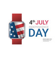 smart watch with united states flag american vector image vector image
