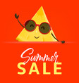 summer sale banner with pineapple character vector image vector image