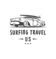 surfing travel logotype vector image vector image